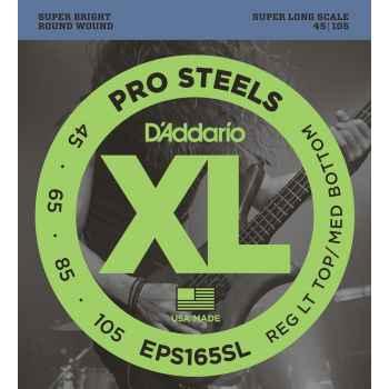 D´addario EPS165SL ProSteels Custom cuerdas para bajo